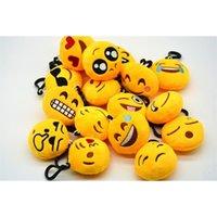Espressione facciale portachiavi carino emoticon divertente catena chiave peluche giocattoli portachiavi per regalo unisex