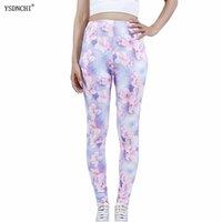 Leggings de mujer Ysdnchi mujeres moda sexy flores rosadas impresión pantalones al por mayor pantalones deportes elástico empuje hacia arriba el tobillo de tramo longitud leggins