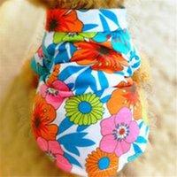 Dog Apparel Summer Beach Vest Short Sleeve Pet Clothes Top Floral T Shirt Hawaiian Tops