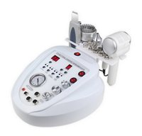 5 em 1 Diamond Dermaabrasão LED Micro Corrente Ultrasonic Skin Scrubber RF Olho Levantando Martelo Quente Frio