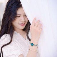 / Lucky Kimio Star Armbanduhr Modernes elegantes Mädchen Kompakte einfache Kette 6352