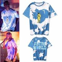 2021 여름 패션 Kanye West Men 's Brand T 셔츠 유럽 및 미국 콘서트 투어 동일한 우주 비행사 넥타이 낙서 남성 여성용 티셔츠