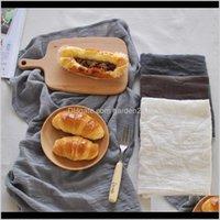 Хлопковое белье скатерть по горизонзированной фоновой тканью салфетки салфетки обеденные столик для кухонного пикника Placemat домашний декор 2 RIKZX RBZVN