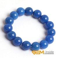 Charm Bracelets Natural Blue Carnelian Bracelet : 6mm To 14mm Stone Energy For Women Gift