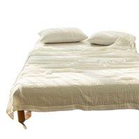 Одеяла Yovepii Домашняя постельное белье Летние бросание нить Одеяло 3 слоя хлопчатобумажная марля белого дыхания свободно покрывало прочную простую жизнь одеяло 1 шт.