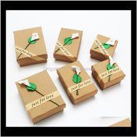 포장 디스플레이 드롭 배달 2021 크래프트 목걸이 팔찌 반지 귀걸이 쥬얼리 세트 저장 상자 Cajas de Regalo 선물 상자 Caixas Par