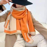 Sciarpa invernale Pashmina per designer Sciarpa calda moda moda classica donne imitare la lana cashmere lungo scialle di scialle involucro 65 * 190 cm