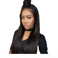 360 Full Lace Human Hair Wigs Pre Plucked For African American Natural Straight Glueless Virgin Brazilian Lace Frontal Wig With Baby Hair