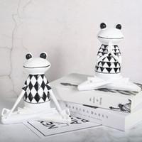 Statue de grenouille 3D créative nordique moderne résumé résine résine yoga ornements salon TV Cabinet de vin décor maison figurines miniatures