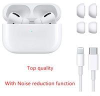 سماعات AP3 1: 1 AirPods Pro Hight Quality for iPhone H1 Chip إعادة تسمية GPS Wireless شحن سماعات Bluetooth