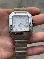 Joan007 Montre carrée occasionnelle 40mm Bracelet en acier inoxydable Fashion Mens Montres Male Montre mécanique Cadeau