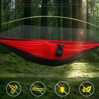 Xinda Portaledges Camping Ao Ar Livre Camping Portátil Alta Load-rolamento Único Balanço Duplo Campo de Hammock (Wih Mosquito Net) Árvore e cama de suspensão