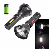 Flashlights Torches LED Mini Portable Lamp With Built-in 18650 Battery USB Rechargeable COB Torch Light