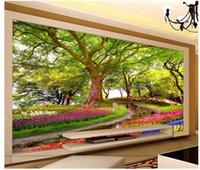 Wallpapers 3d Wallpaper Custom Po Mural Forest Wonderland Flower Sea Oil Painting Home Decor Wall Murals For Walls 3 D