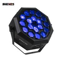 Shehds Effect LED Par Bee Eye 18x12W RGBW照明DMXコントローラステージビームライトプロフェッショナルDJディスコライトミュージック速い配信
