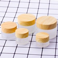 5g-100g Mini Glass Empty Bottles Pots Cosmetic Makeup Inner Lid Face Cream Lip Balm Container My Refillable