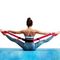Yoga Stretch Belt Adjustable Sports Tension One-word Horse Training Splits Resistance Bands