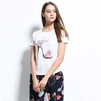 summer fashion design t-shirt clothes Kawaii High-heeled shoes t shirts for women crop tops womens clothing harajuku pugs ZSIIBO NV51-F
