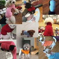 Teacup Dog Sweater Puppy Cat Hoodie Clothes For Chihuahua Yorkie Knitting Crochet Cloth Christmas Dog Sweater