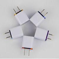 듀얼 USB 벽 충전 충전기 2 포트 금속 충전기 플러그 2.1A + 1A 전원 어댑터 플러그 iPhone 삼성 iPad 모든 핸드폰