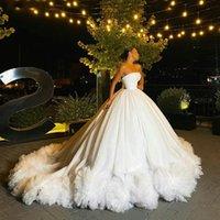 Vestidos casuais lindos muito exuberante bridal bridal bugues babout casamento vestidos de bola de casamento lace up formal party vestido