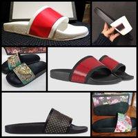 2021 Mulher / Homem Sandálias Qualidade elegante chinelos Fashion Clássicos Sandal Homens Mulheres Deslizamento Flat Shoes Slide UE: 35-45 com caixa Shoe02 08