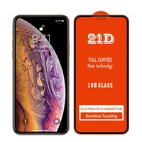 21D Full Cover Glue Tempered Glass Phone Screen Protector For iPhone 13 12 MINI PRO 11 XR XS MAX 8 7 6 6S