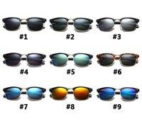 Occhiali da sole stile moda Trend Semi-frame protezione UV occhiali da sole diversi colori # 3106