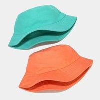 2021 mais novo puro cor pescador dupla pescador chapéus luz placa ao ar livre sol-proteção simples chapéu de sol dobrável tampa de bacia rápida entrega rápida