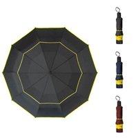 Зонтики большой ветрозащитный 125см зонтик дождь женщины двойной слой 3folding качественный сильный портативный туристический гольф мужчины