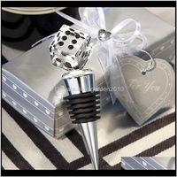 Favor Lasvegas Themed Crystal Dice Bottle Stopper Event Party Supplies Wedding Bridal Shower Favors Wen5031 Xrndt 8Pygo