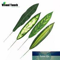 Juego de toque visual 12 unids lotes verde artificial monstera hoja planta rama árbol hojas brasileño palma hojas de hoja perenne hojas