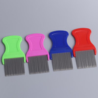 Dog Cat Head Hair Lice Nit Comb Pet Safe Flea Eggs Dirt Dust Remover Stainless Steel Grooming Brushes