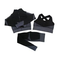 Shaping Leggings fitness ternos Yoga Mulheres roupas 3 pcs conjuntos de manga longa camisa + sutiã esporte + treino sem emenda Running Gym wear, lf051 10
