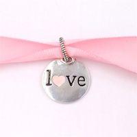 Perles d'argent sterling authentiques 925 Mama Love Pandentes Charmes Convient aux bracelets de bijoux de style Pandora européen Collier eng398610c00_1