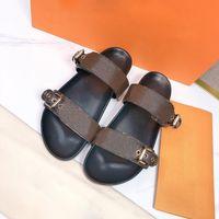Дизайнеры Женщины Сандалии Роскошные Кожаные Плоские Платформы Тапочки Леди Старый Цветок Флопса Лето Мода Печатные Слайды Пляжная Обувь для отдыха