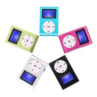 Mini USB Metal Clip Music MP3 Player LCD Screen MP4 Players Support FM 32GB Micro SD Card Slot