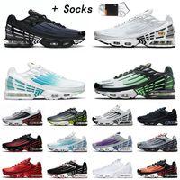 nike air max airmax tuned 3 tn plus 2 Tn 3 III Plus 2 أحذية ركض عالية الجودة للرجال والنساء أحذية رياضية Hasta Green Aqua Volt ثلاثية سوداء مضبوطة Tns أحذية رياضية مقاس 12