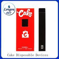 Dispositivos descartáveis do bolo delta 8 d8-1 um grama cigarros recarregáveis do vagem vazio para o óleo grosso