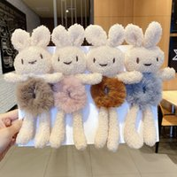 Cute three-dimensional bear rabbit plush hair ring sweet ball head rope tie hair ponytail girl hair accessories