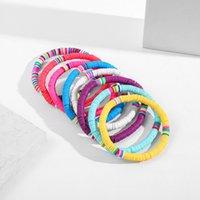 Beach style Bohemia sweet Bracelet for Women 6mm color polymer clay plastic bracelets