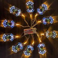 라마단 축제 파티 조명 2 미터 10 LED 스타 모스크 오일 라이트 랜턴 EID 무바라크 문자열 이슬람교 회교도 이벤트 장식 HHC7588