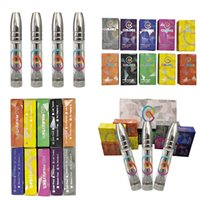 Colors Vape Cartridges Pod 0.8ml Atomizers 510 Thread Tank Thick Oil Full Ceramic Pen Empty E-Cigarettes Carts Round Tip With Retail Packaging Stickers