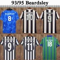 97 99 Newcastle United #9 SHEARER Retro-Fußballjerseys 97 98 99 Startseite Schwarz Weiß Herren-Fußball-Hemden Classic Retro Short Sleeve Adult Uniformen