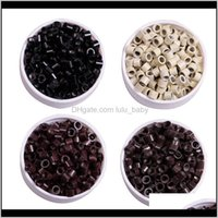 Microbeads Aessories & Tools Productsz&F Nano Rings Links Beads Hair Beads Sile Micro Rings Links For Extensions Extended (4Dot0Mm*2Dot7Mm*3
