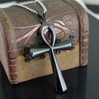 Nuevos accesorios de moda de comercio exterior simple brillante antiguo egipto cruz titanio acero colgante colgante colgante ornamentos colgantes STN831