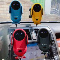 S11 Otomatik Kızılötesi Sensör Araba Kablosuz Şarj 15 W Kablosuz Hızlı Şarj Cep Telefonu Hava Firar Montaj Telefon Tutucu Braketi
