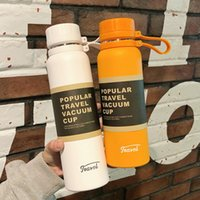 Water Bottles Outdoor Portable Stainless Steel With Lid Straw Coffee Cup Wine Tumblers Mugs Double Wall Vacuum Insulated Bottle