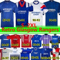 GASCOIGNE Glasgow Rangers Retro soccer jersey 1984 82 83 84 86 87 90 92 93 94 95 96 97 99 2001 02 03 ALBERTZ MCCOIST Home Blue Away Third vintage Classic football shirt