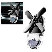 Car Air Freshener Ocean Windmill Pattern Propeller Fan Shaped Diffuser Purifier Vent Clip-on(Black)